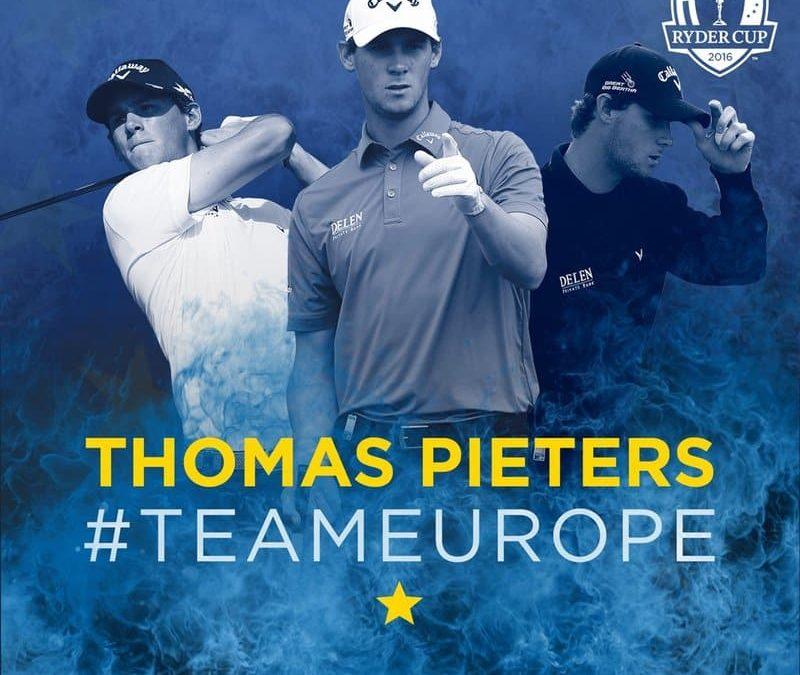 Thomas Pieters sélectionné pour la Ryder Cup 2016