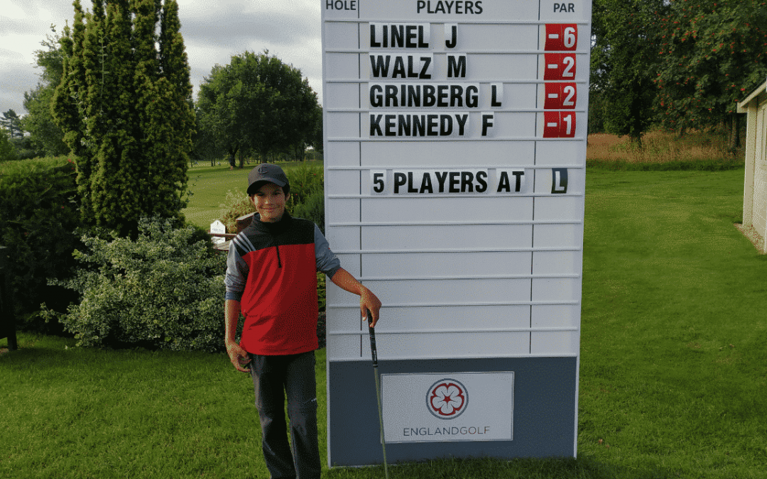 Lev Grinberg in Top 20 van English Boys' U14 Open Amateur