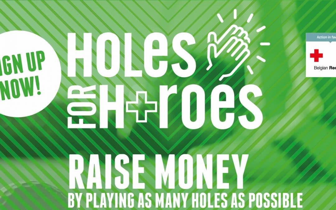 Holes for Heroes: Belgische golfwereld voor het Rode Kruis