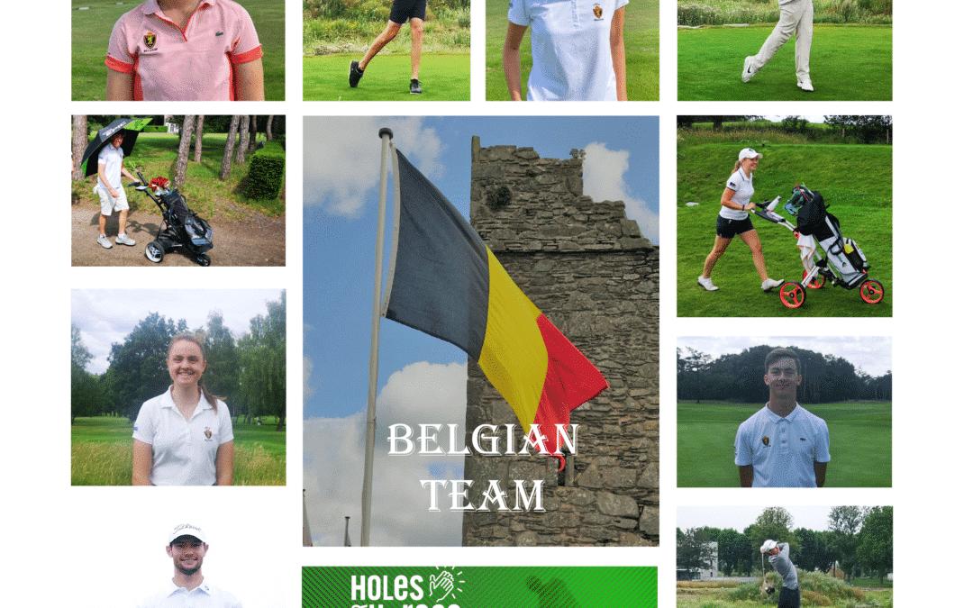 Het Belgisch team ondersteunt het Rode Kruis
